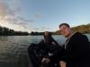 Angel-Buddies auf dem Rheinhafen