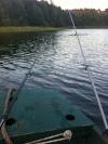 Per Boot auf dem Kraaker Badesee