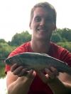 Patrick mit Regenbogenforelle aus Weselsdorf