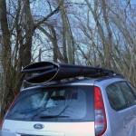 Porta Bote auf dem Dachgepäckträger
